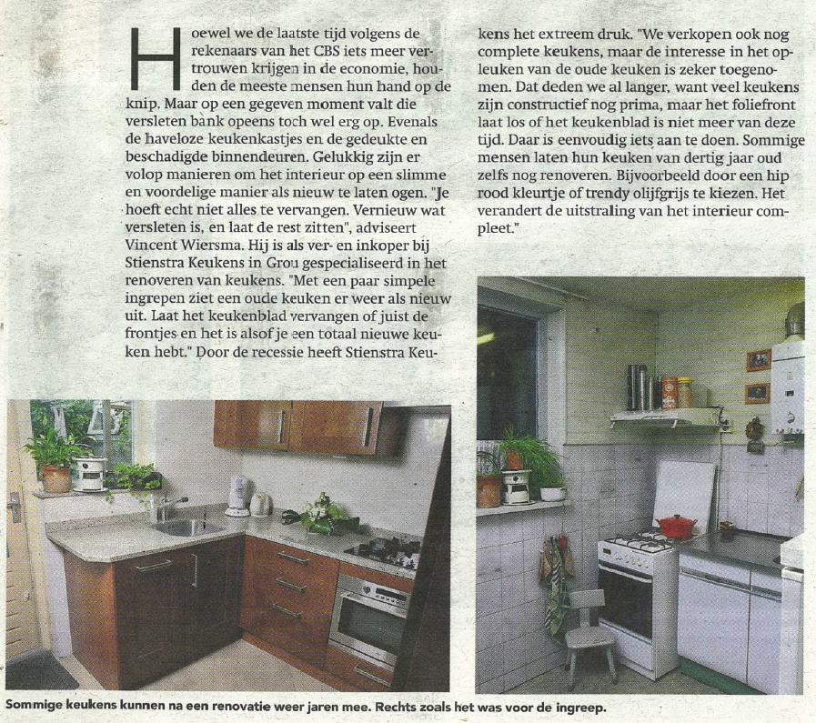 Stienstra Keukens Leeuwarder Courant